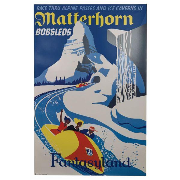 Matterhorn Bobsleds Disney Gallery Attraction Poster.
