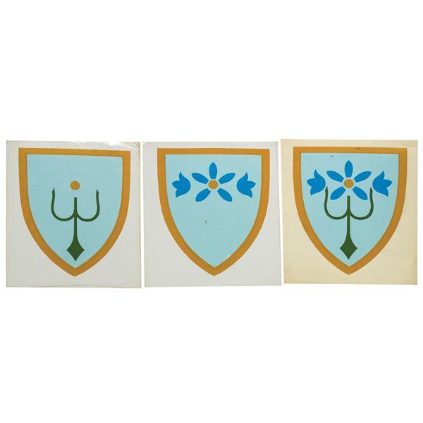 Set of (3) Fantasyland Floral Crest Decals.