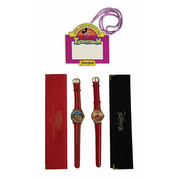 Toontown Grand Opening Pass and Pair of Watches.