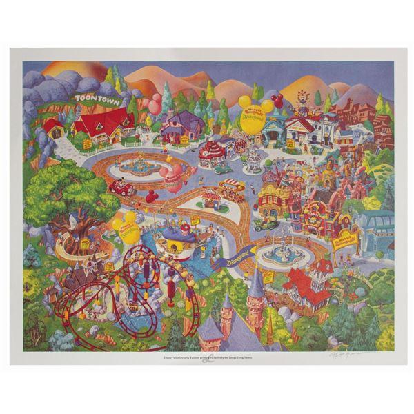 Disneyland Mickey's Toontown Longs Drugs Print.