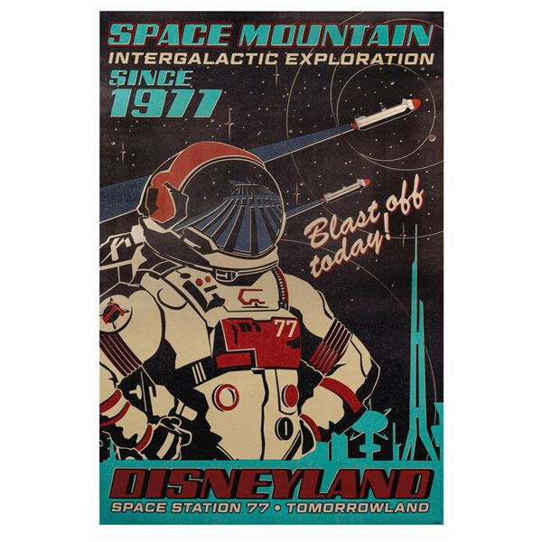 Space Mountain Anniversary Attraction Poster.