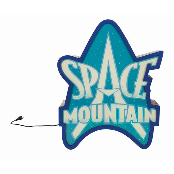 Space Mountain Attraction Sign.