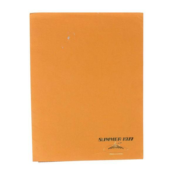 Space Mountain Summer '77 Cast Appreciation Folder.