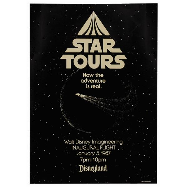 Star Tours Inaugural Flight Imagineering Poster.