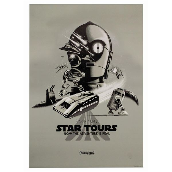 Star Tours Anniversary Attraction Poster.