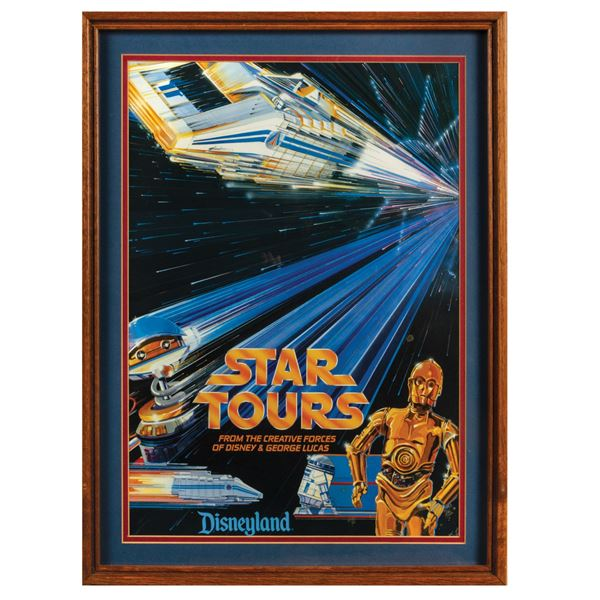 Star Tours Pre-Grand Opening Poster.