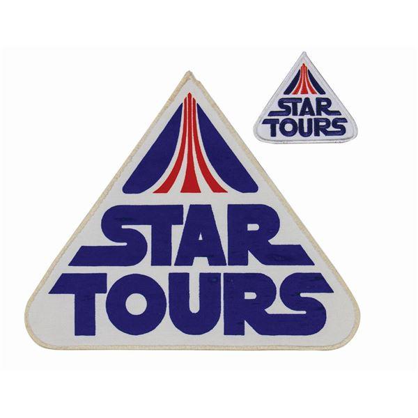 Pair of Star Tours Cast Member Uniform Patches.