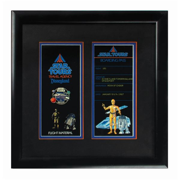 Star Tours 15th Anniversary Framed Pins.