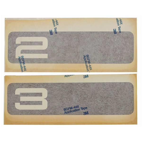Pair of Star Tours Load Area Attraction Decals.
