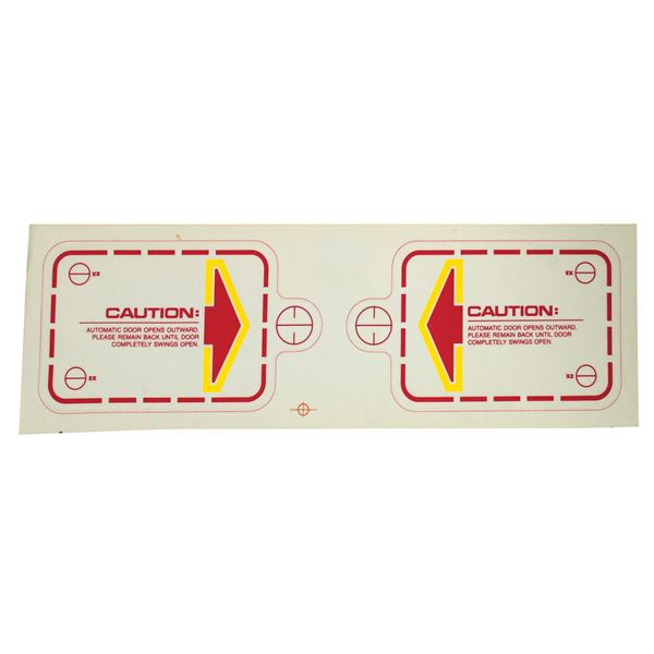 """Star Tours """"Caution"""" Ride Vehicle Decal."""