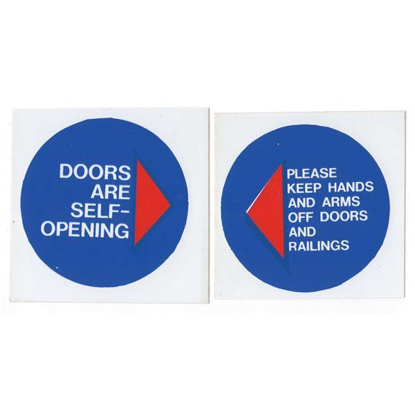 Pair of PeopleMover Door Graphics.