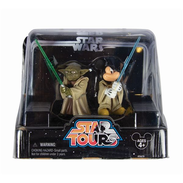 Star Tours Jedi Mickey and Yoda Figure 2-Pack.