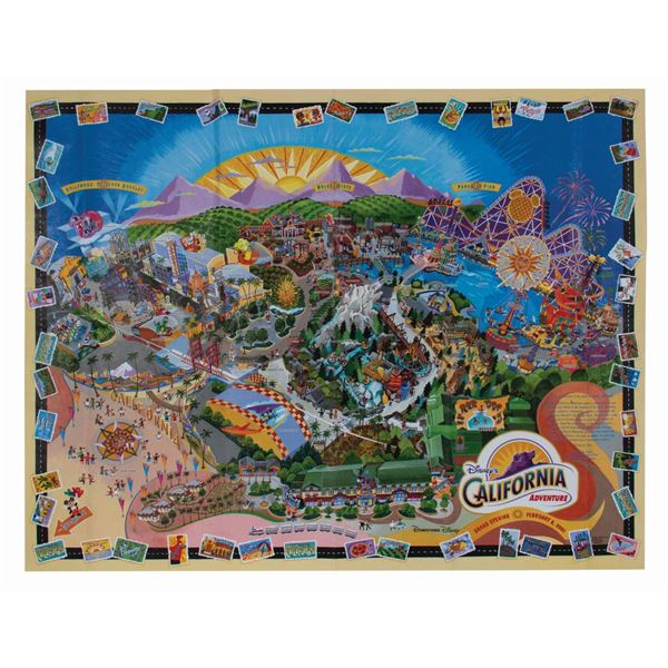 California Adventure Opening Day Map.