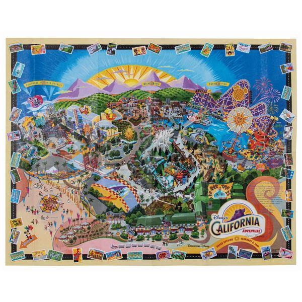 Rennie Marquez Signed 2001 California Adventure Map.