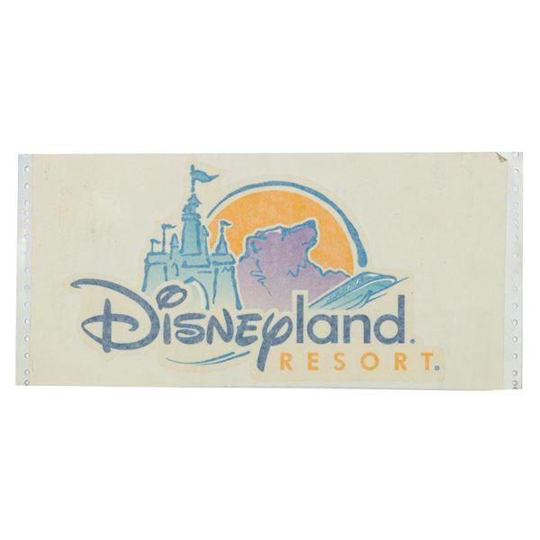 Disneyland Resort Esplanade Trash Can Logo.