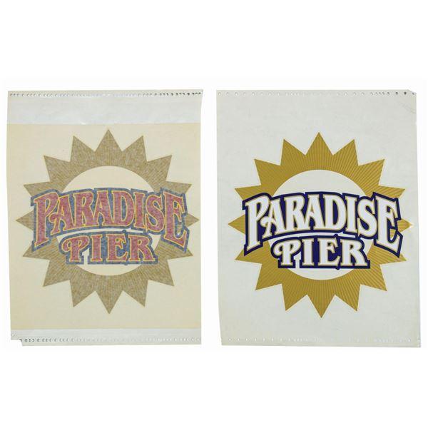 Pair of Paradise Pier Graphics.