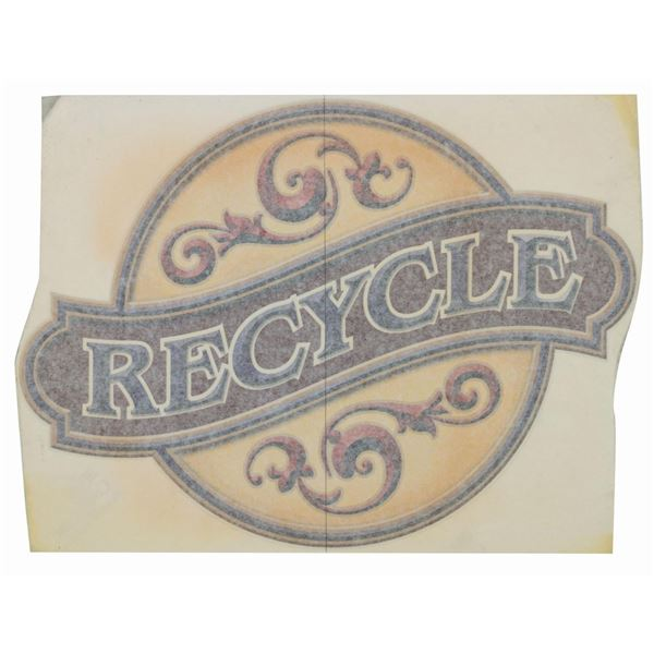 """Paradise Pier """"Recycle"""" Graphic."""