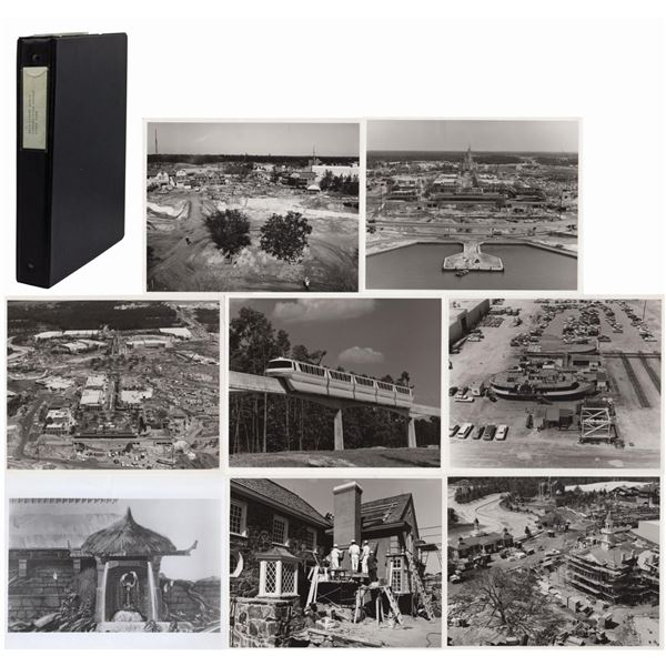 Binder of (34) Walt Disney World Construction Photos.