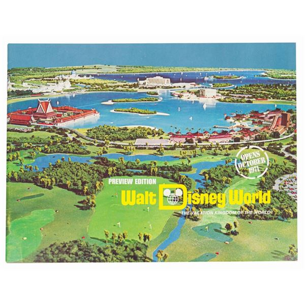 Walt Disney World Preview Edition Book.