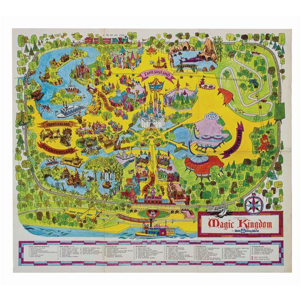 1971 Magic Kingdom Souvenir Map.