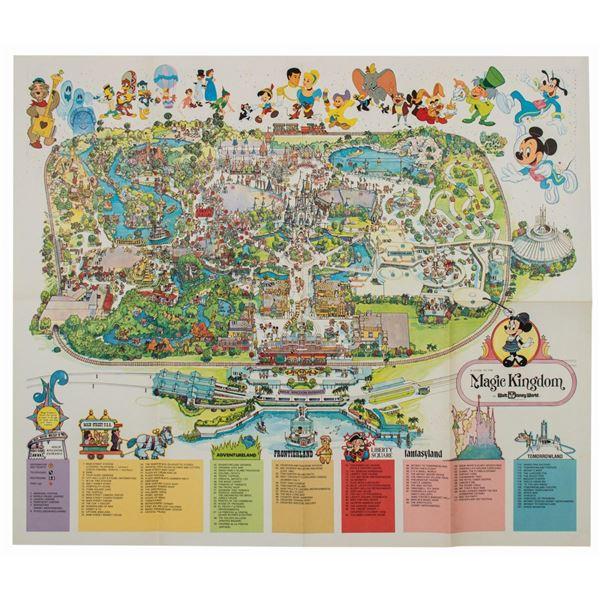 1979 Magic Kingdom Walt Disney World Souvenir Map.