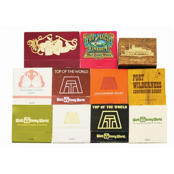Set of (11) Walt Disney World Resort Matchbooks.