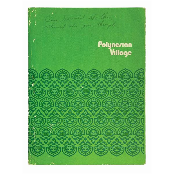 Polynesian Village Resort Guest Services Folder.