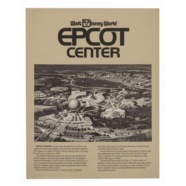 Epcot Center Pre-Opening Brochure.