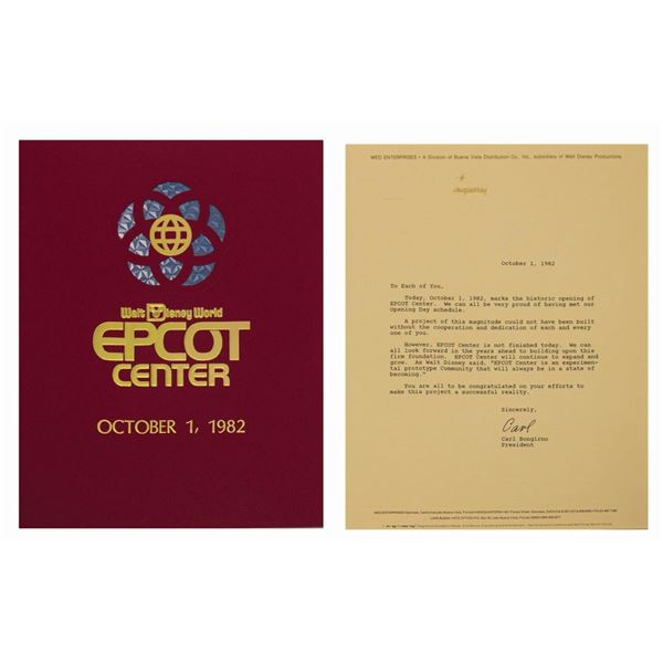 Epcot Center Opening Day Cast Member Guidebook.