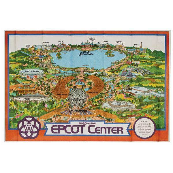1982 EPCOT Souvenir Map.