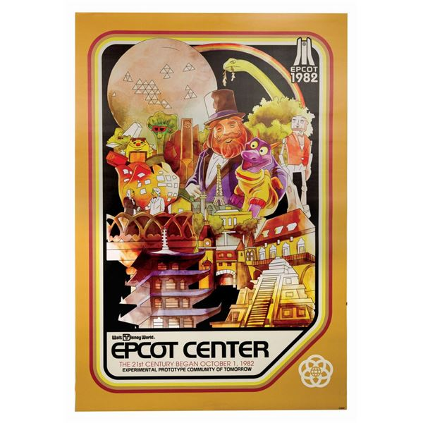 Epcot Center Anniversary Attraction Poster.