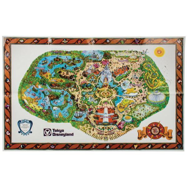 1980 Tokyo Disneyland Pre-Opening Map.