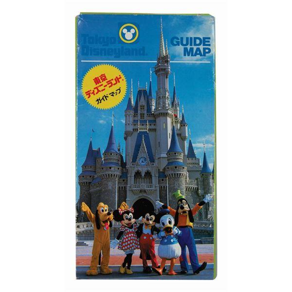 1983 Tokyo Disneyland Souvenir Guide Map.