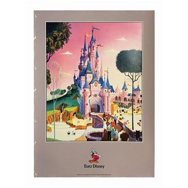 Euro Disney Lithograph.