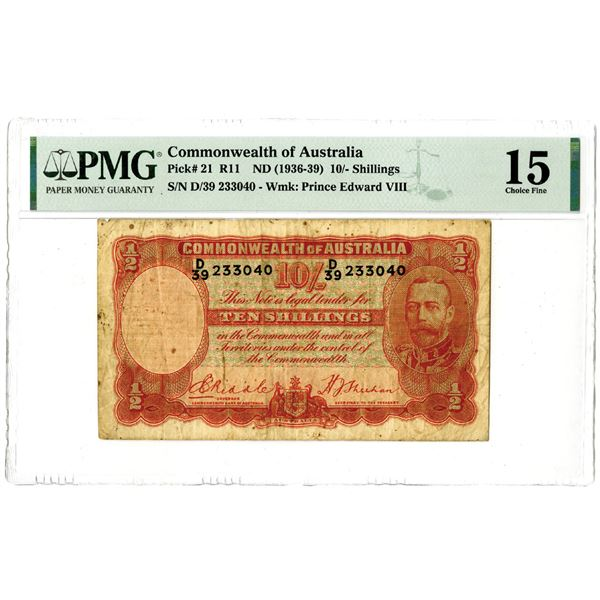 Commonwealth of Australia, ND (1936-39) Issued Banknote