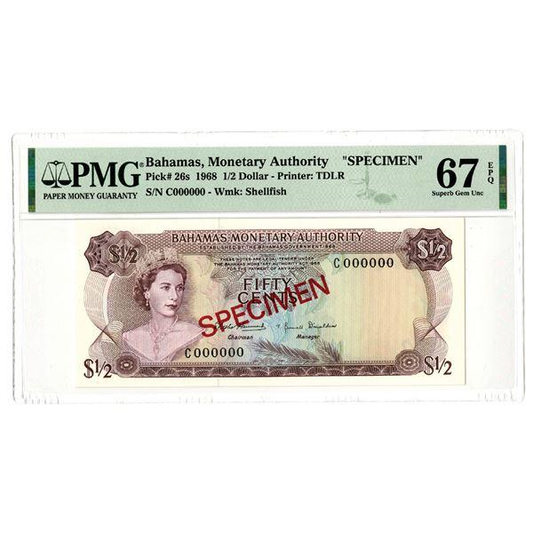 Bahamas Monetary Authority. 1968. Specimen Note.