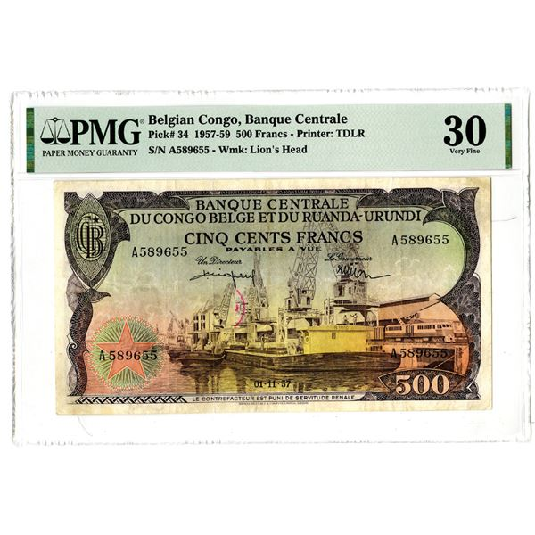 Banque Centrale du Congo Belge et du Ruanda-Urundi, 1957-59 Issued Banknote