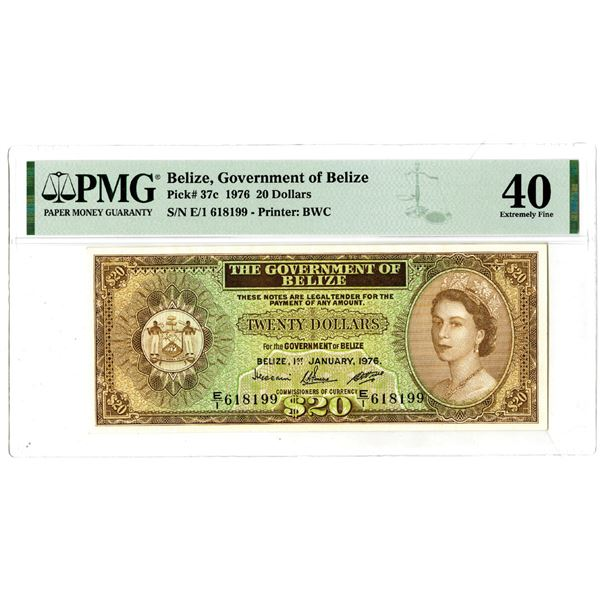 Government of Belize, 1976 Issued Banknote