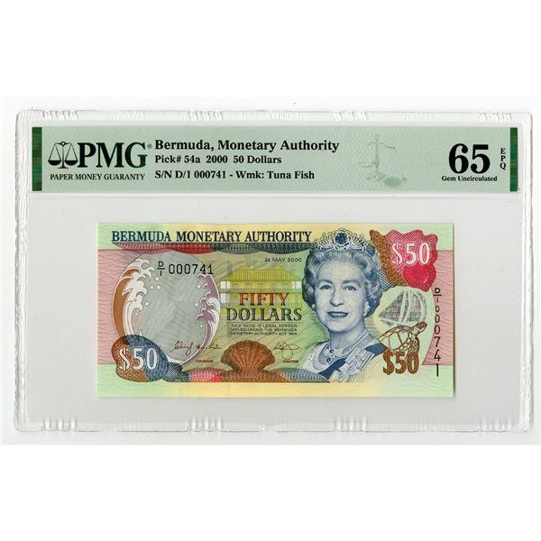 Bermuda Monetary Authority, 2000 Issued Banknote