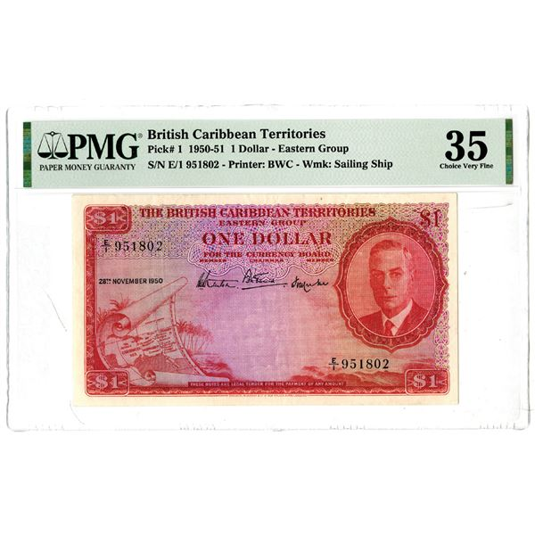 British Caribbean Territories, 1950-51 Issued Banknote