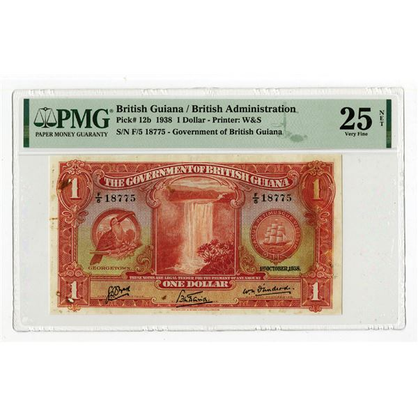 Government of British Guiana, 1938 Issue Banknote.