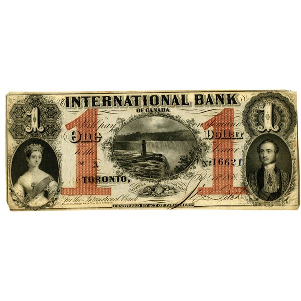 International Bank of Canada, 1858 Issued Obsolete Banknote