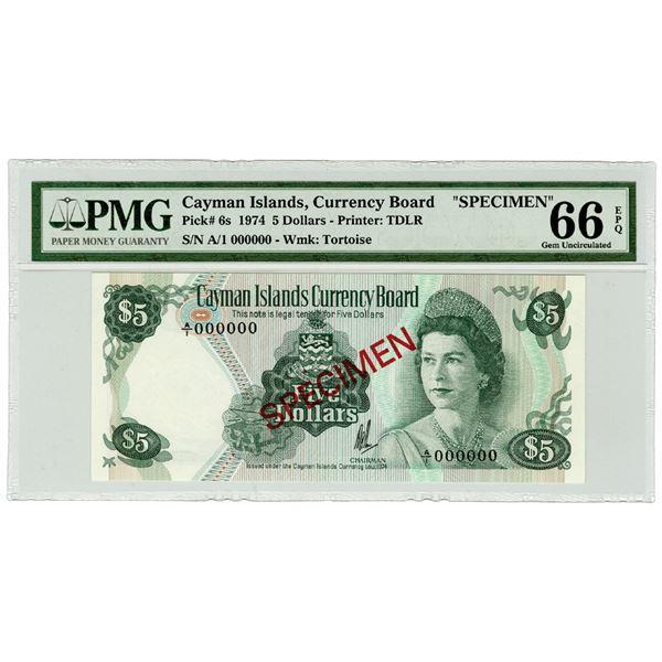 Cayman Island Currency Board. 1974. Specimen Banknote.