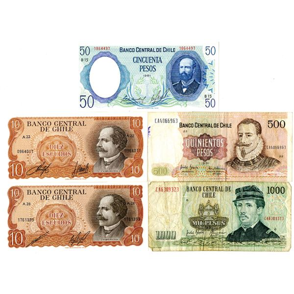Banco Central de Chile Banknote Group of 10