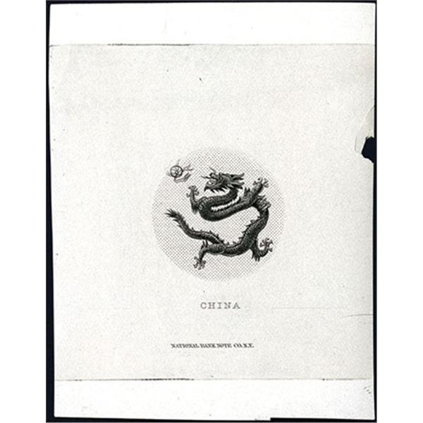 National Bank Note Company - Dragon Proof Vignette (ca. 1860-70's)