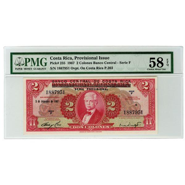 Banco Central de Costa Rica, 1967. Issued Banknote