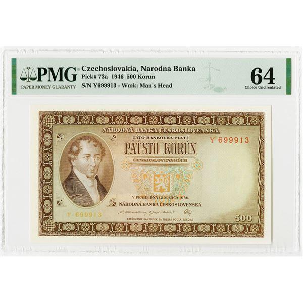 Republika Ceskoslovenska, 1946 Issued Banknote.
