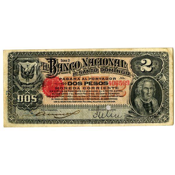 Banco Nacional de Santo Domingo, 1889 Issued Banknote