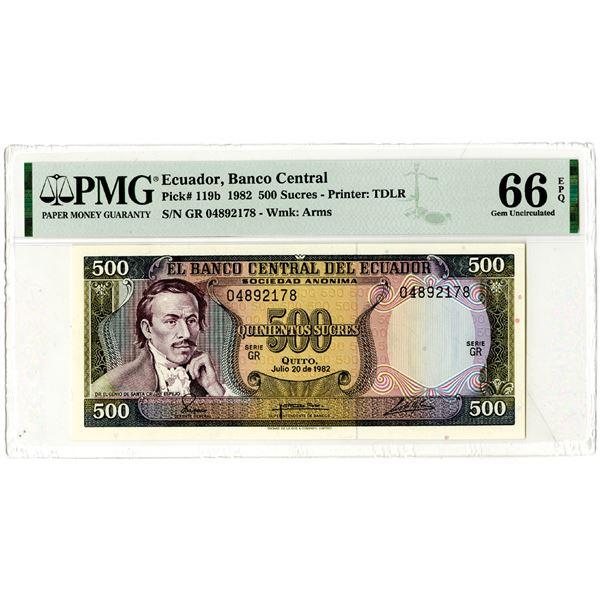"""Banco Central del Ecuador, 1982 """"Top Pop"""" Issued Banknote"""