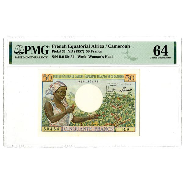 Institut d'Emission de l'Afrique Equatoriale Francaise et du Cameroun, ND (1957) Issued Banknote